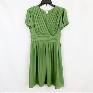 Banana Republic Green 100% Silk Dress